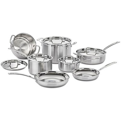 Multiclad Pro Tri-Ply 12 pc. Stainless Cookware Set (MCP-12N) - Refurbished