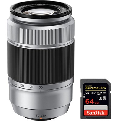 Fujinon XC 50-230mm (76-350mm) F4.5-6.7 OIS X-Mount Lens with 64GB Card