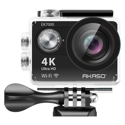 EK7000 4K WIFI Waterproof Sports Action Camera 170 Degree Wide - Blk - OPEN BOX