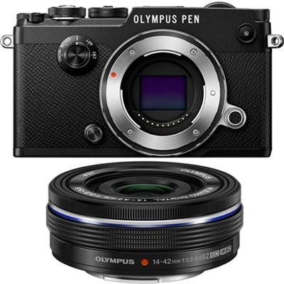 PEN-F 20MP Mirrorless Micro Four Thirds Digital Camera w/ 14-42mm Lens - Black