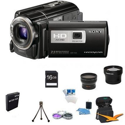 HDR-PJ50V Handycam Full HD Camcorder w/ Projector and GPS ULTIMATE BUNDLE