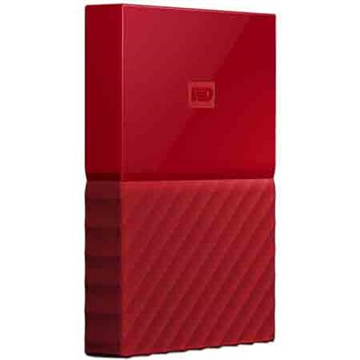 WD 1TB My Passport Portable Hard Drive - Red
