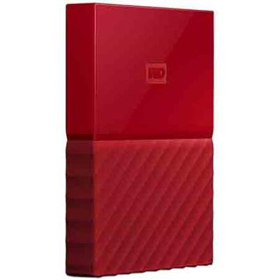 WD 1TB My Passport Portable Hard Drive - Red