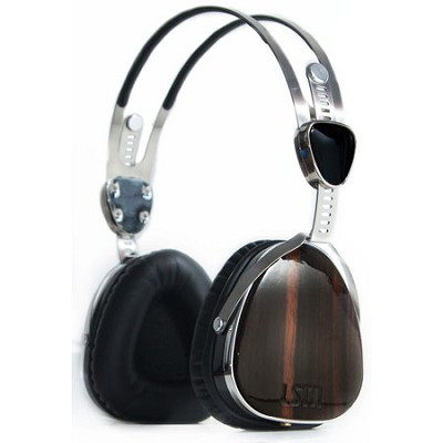 Over-Ear Headphones LSTN3 Troubadours with Mic, Ebony Wood