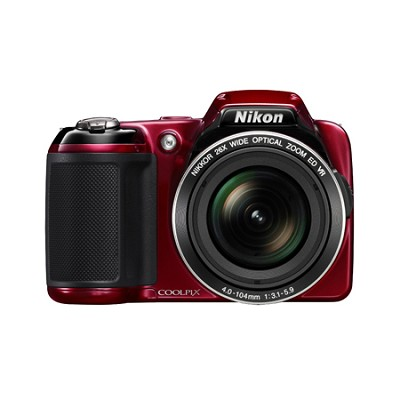 COOLPIX L810 16.1 MP 3.0-inch LCD Digital Camera - Red
