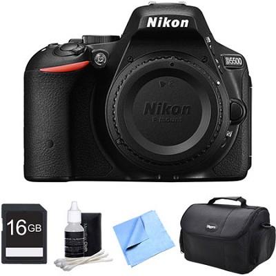 D5500 Black Digital SLR Camera and 16GB Bundle