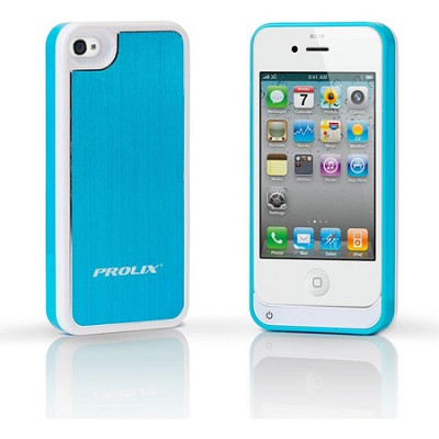 Prolix Power iPhone 4/4S Protective External Battery Case -  Aluminum (Blue)