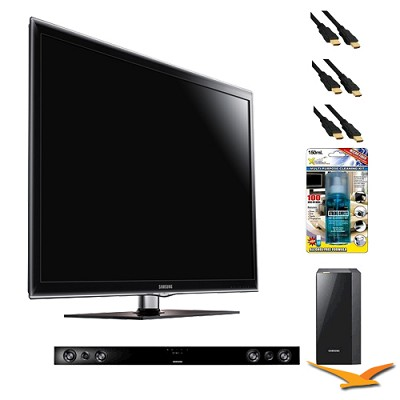 UN46D6300 46 inch 1080p 120hz LED HDTV with HW-D550 - Home Theater