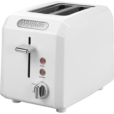 Cool Touch 2-Slice White Toaster