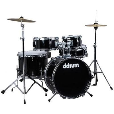 D1MB D1 JR Complete 5-piece Drum Set, Black