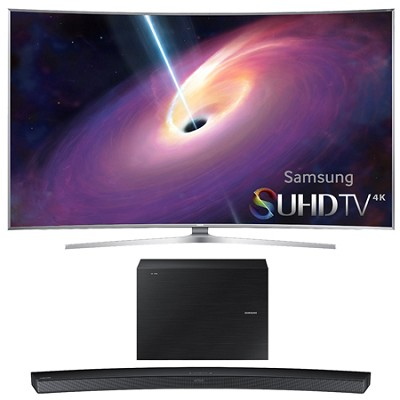 UN65JS9500 - 65-Inch Curved 4K 120hz SUHD 3D LED TV w/ HW-J6000 Soundbar Bundle