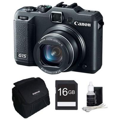 Powershot G15 12 MP High-Performance Digital Camera Bundle Deal