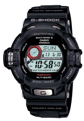 GW9200-1 - Men's G-Shock RISEMAN Atomic Solar Multi-Band Watch, Black Resin
