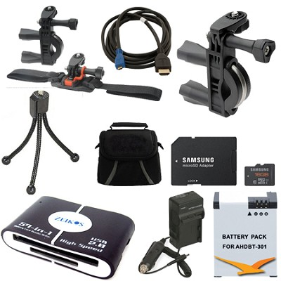 GoPro Bike Accessory Kit 2 for the Hero 4 , Hero 4+ and all action cameras