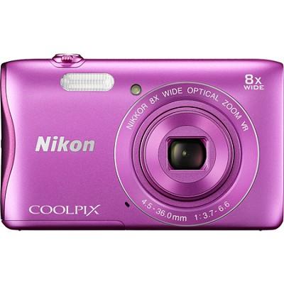 COOLPIX S3700 20.1MP 720p HD Video Digital Camera - Pink
