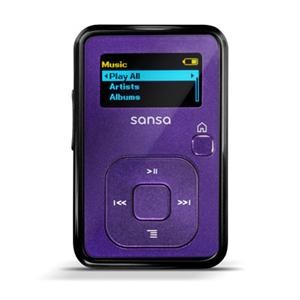 Sansa Clip Plus 4GB Indigo MP3 Player /// n/a ex to SDMX18R004GBA57