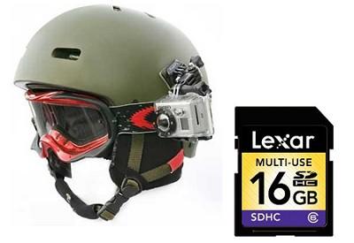 HD Helmet HERO Camera Kit with 16GB Memory Card
