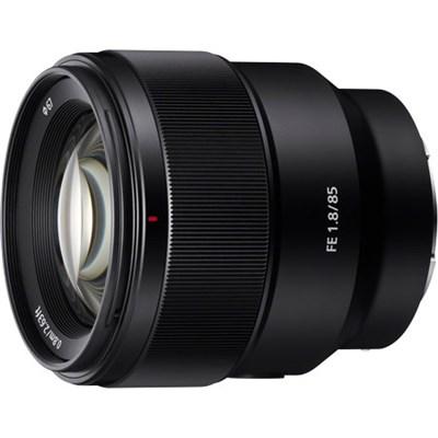 85mm F1.8-22 Full-frame E-mount Fixed Prime Lens - SEL85F18 - OPEN BOX