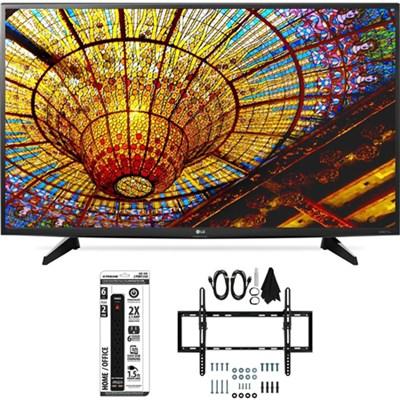 49UH6100 49-Inch UH6100 4K UHD Smart TV w/ webOS 3.0 Flat/Tilt Wall Mount Bundle