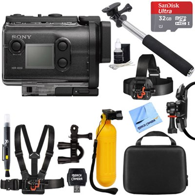 HDR-AS50/B Full HD Action Cam + 32GB Outdoor Mount Kit