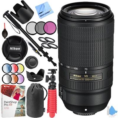 AF-P NIKKOR 70-300mm f/4.5-5.6E ED VR Fixed Zoom DSLR Lens (Black) Kit