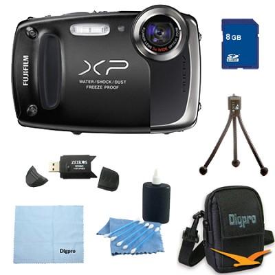 Finepix XP50 14MP CMOS Digital Camera 8 GB Bundle (Black)