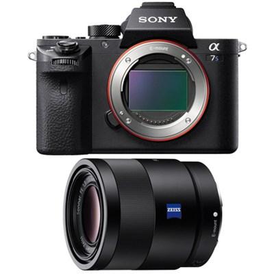 a7S II Full-frame Mirrorless Interchangeable Lens Camera Body 55mm Lens Bundle