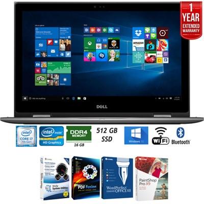 i5578-10050GRY 15.6` Intel i7-7500U FHD Laptop+Software+Warranty