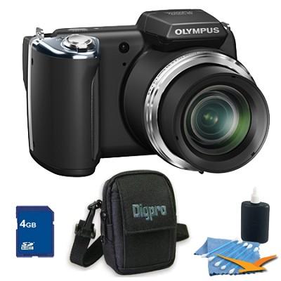 4 GB Kit SP-620UZ 16 MP 3-inch LCD Black Digital Camera - Black