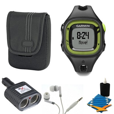Forerunner 15 Heart Rate Monitor Bundle Small - Black/Green Bundle