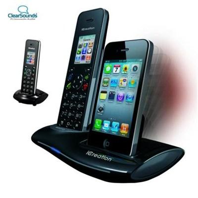 i700/i700E iCreation Black Cordless Phone- BLACK - OPEN BOX