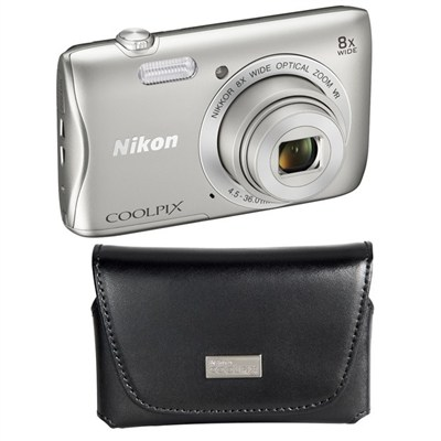 Nikon S3700 20.1MP Digital Camera Bundle