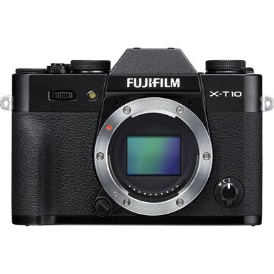 X-T10 Mirrorless 16.3MP Full HD Black Compact System Digital Camera