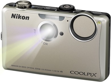 COOLPIX S1100pj Silver 14MP Digital Camera w/ Projector