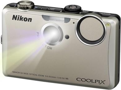 COOLPIX S1100pj Silver 14MP Digital Camera w/ Projector