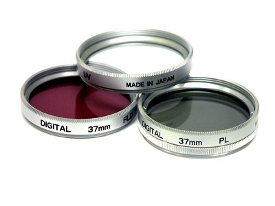 34mm UV, Polarizer & FLD Deluxe Filter kit (set of 3 + carrying case)