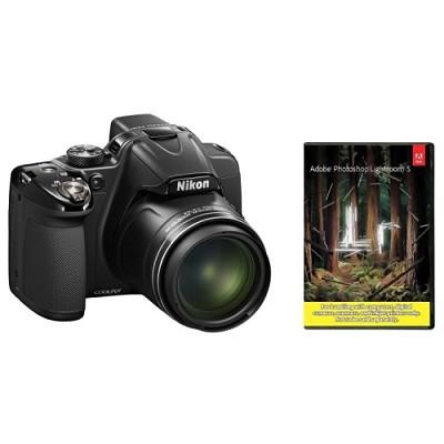 COOLPIX P530 16.1MP Camera w/ 42x Optical Zoom Factory Refurb. + Adobe LR5