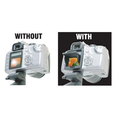 Snap-on Pop-up Shade & Protective Cover for Nikon D70S LCD