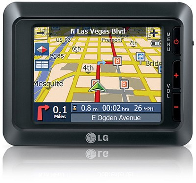 LN-735 Portable GPS Navigator w/ 3.5-inch LCD, Text-to-speech