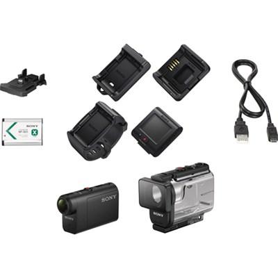 HDRAS50R/B Full HD Action Cam + Live View Remote Bundle
