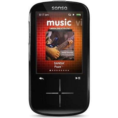 Sansa Fuze+ 16GB Black MP3 MP4 Video Music Player w/ FM Radio