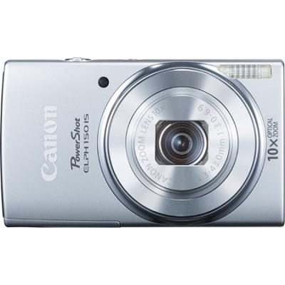 PowerShot ELPH 150 IS 20MP 10x Opt Zoom Digital Camera - Silver