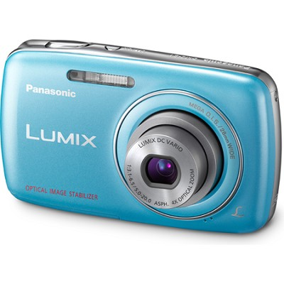 Lumix DMC-S1 12MP Compact Blue Digital Camera w/ 720p HD Video