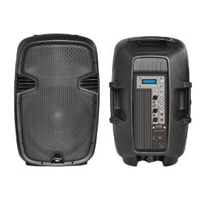 PPHP123MU 12` 800 Watt Powered Two-Way PA Speaker with MP3/USB/SD/3.5mm Input
