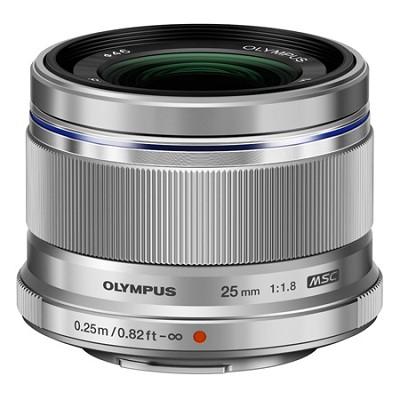 M. Zuiko Digital 25mm f/1.8 Lens for Micro Four Thirds System (Silver)