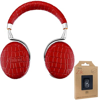 Zik 3 Wireless Noise Cancelling Touch Control Bluetooth Headphones Red + Battery