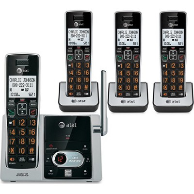CL82413 DECT 6.0 4 Handset Cordless Answering System with Caller ID/Call waiting
