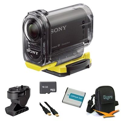 HDR-AS10/B Compact POV HD Action Camera Angle Mount Bundle