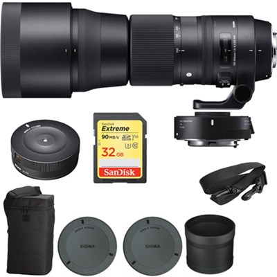 Sigma 150-600mm F5-6.3 Contemporary Lens & Teleconverter for Sigma w/ Dock Kit