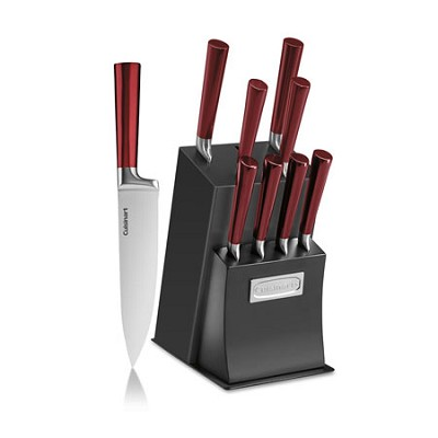 11-Piece Vetrano Collection Cutlery Knife Block Set, Red - C77RB-11P
